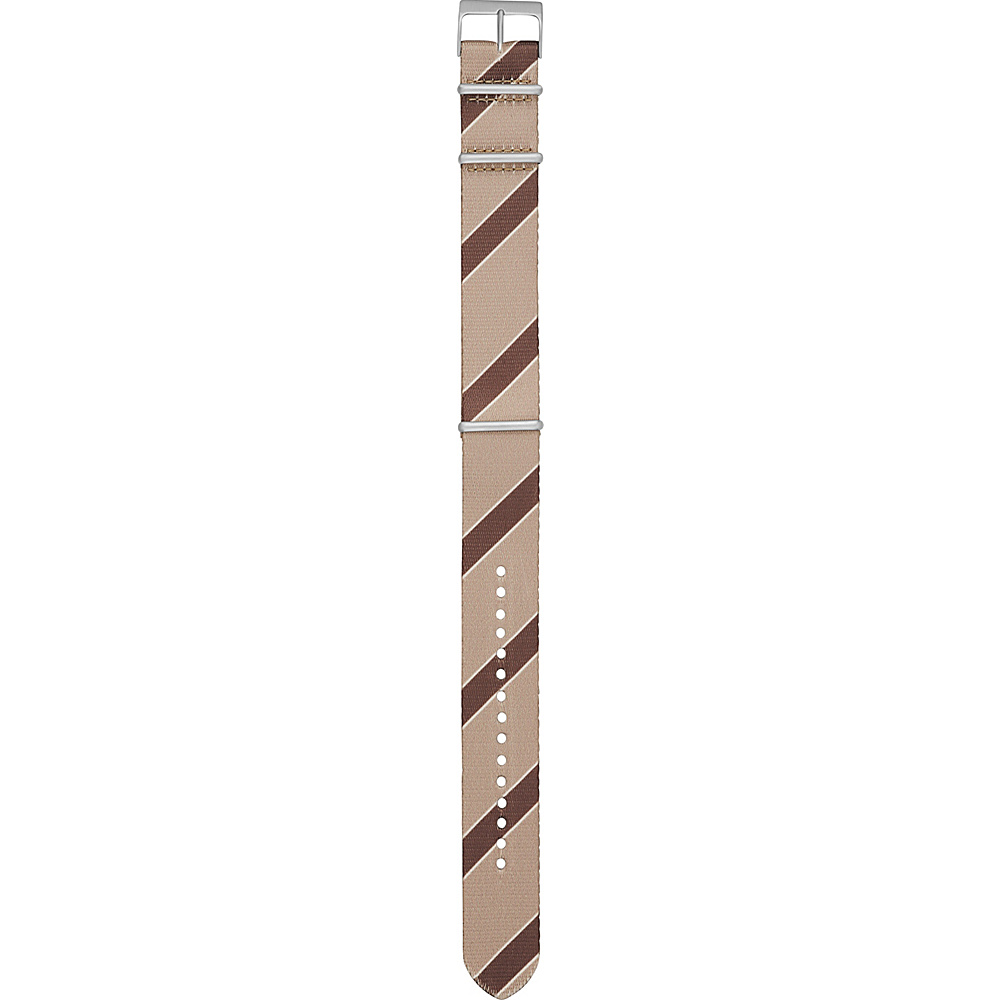 Fossil Field 22mm Polyester Watch Strap Brown - Fossil Watches - Fashion Accessories, Watches