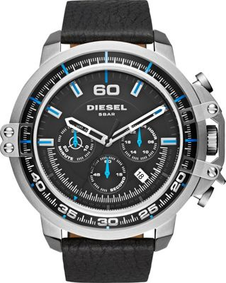Diesel Watches Diesel Watches Deadeye Leather Watch Black - Diesel Watches Watches