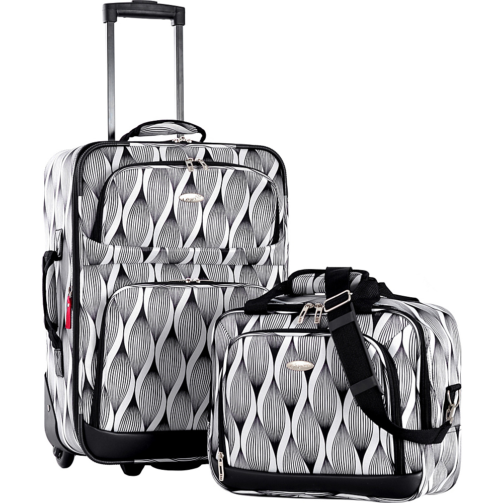 Olympia USA Lets Travel 2 Piece Carry On Luggage Set Spiral - Olympia USA Luggage Sets