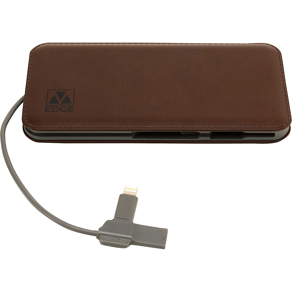 M Edge 8000 mAh Backup Battery Brown M Edge Portable Batteries Chargers