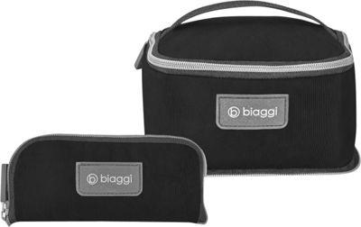 biaggi Zipsak Microfold Travel Essentials Bag Black - biaggi Toiletry Kits