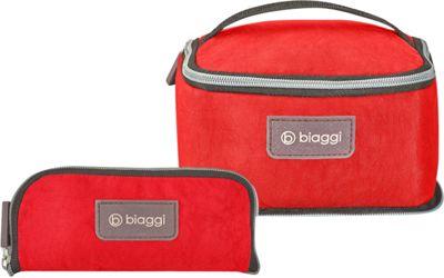 biaggi Zipsak Microfold Travel Essentials Bag Red - biaggi Toiletry Kits