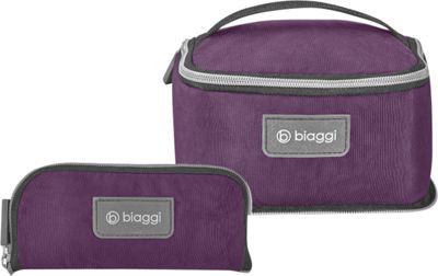 biaggi Zipsak Microfold Travel Essentials Bag Purple - biaggi Toiletry Kits