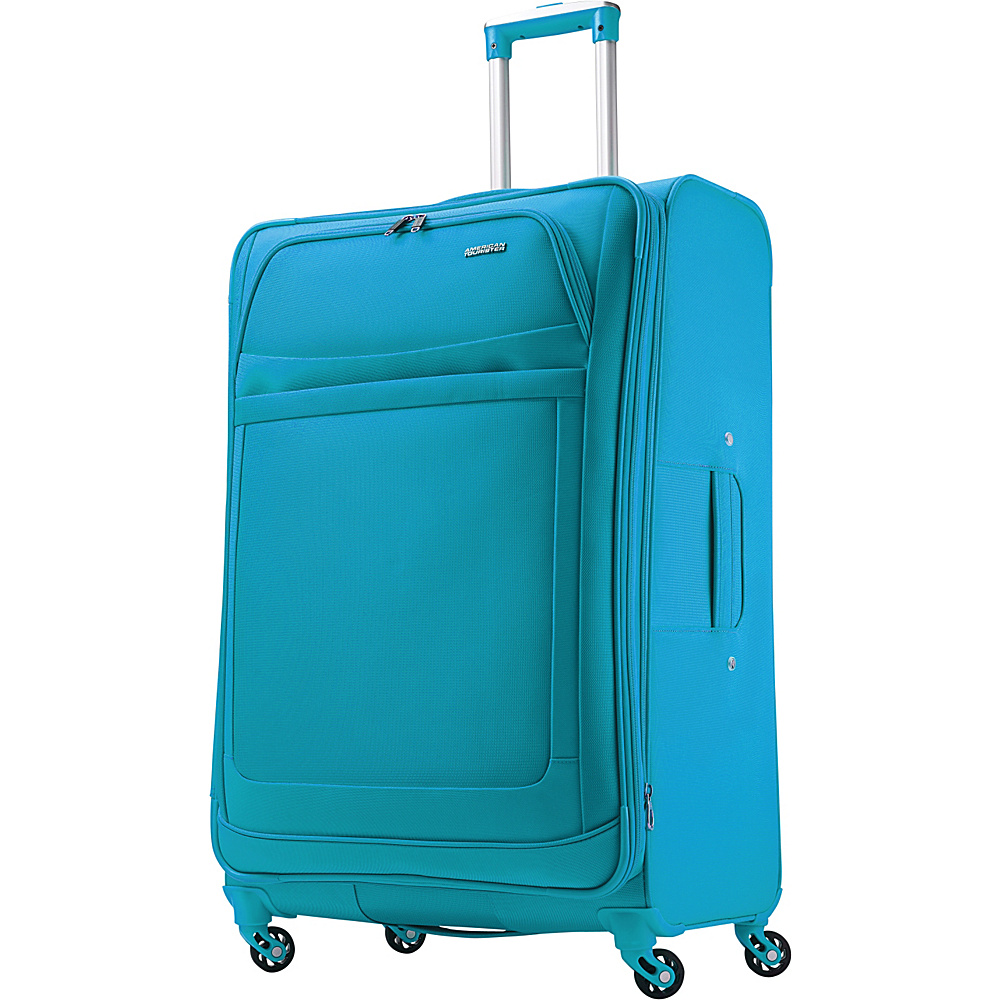American Tourister iLite Max Spinner 29 Light Blue - American Tourister Softside Checked