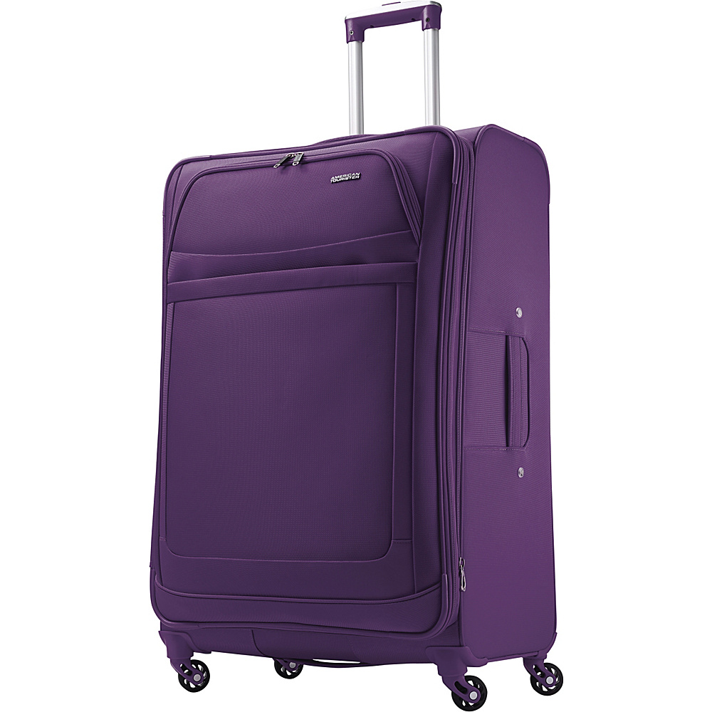 American Tourister iLite Max Spinner 29 Purple - American Tourister Softside Checked