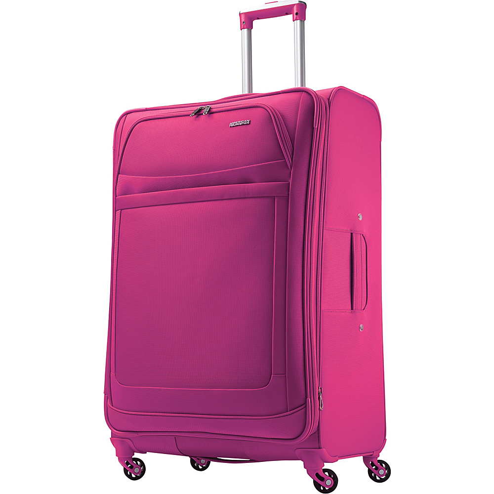American Tourister iLite Max Spinner 29 Raspberry American Tourister Softside Checked