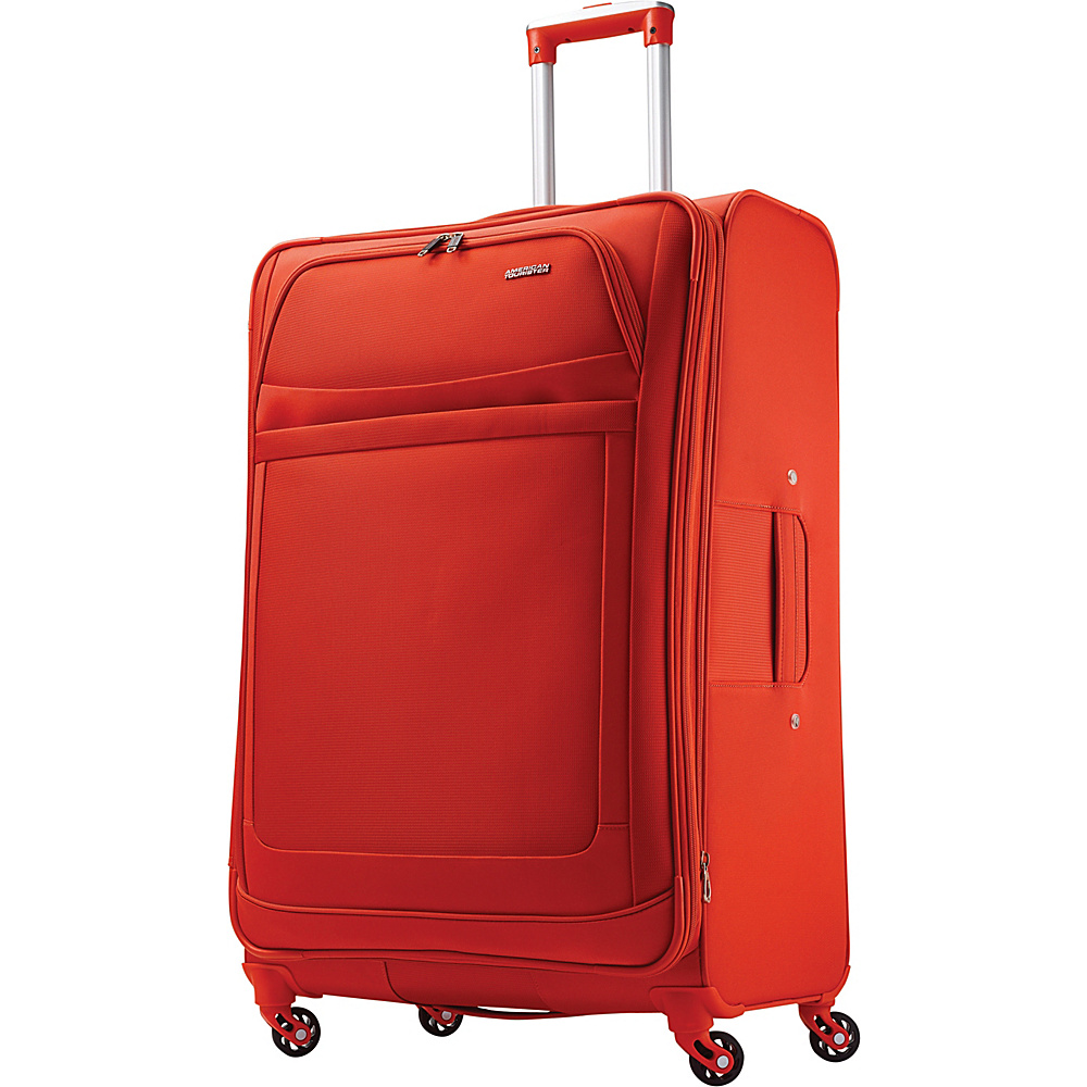 American Tourister iLite Max Spinner 29 Tangerine - American Tourister Softside Checked