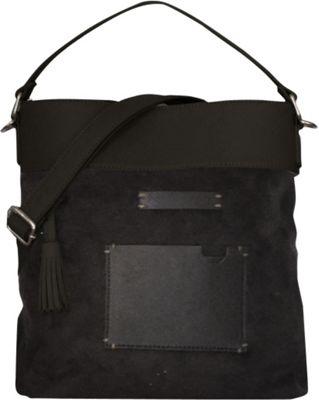 Sherpani Boheme PU Suede and Leather Convertible Crossbody Black - Sherpani Leather Handbags