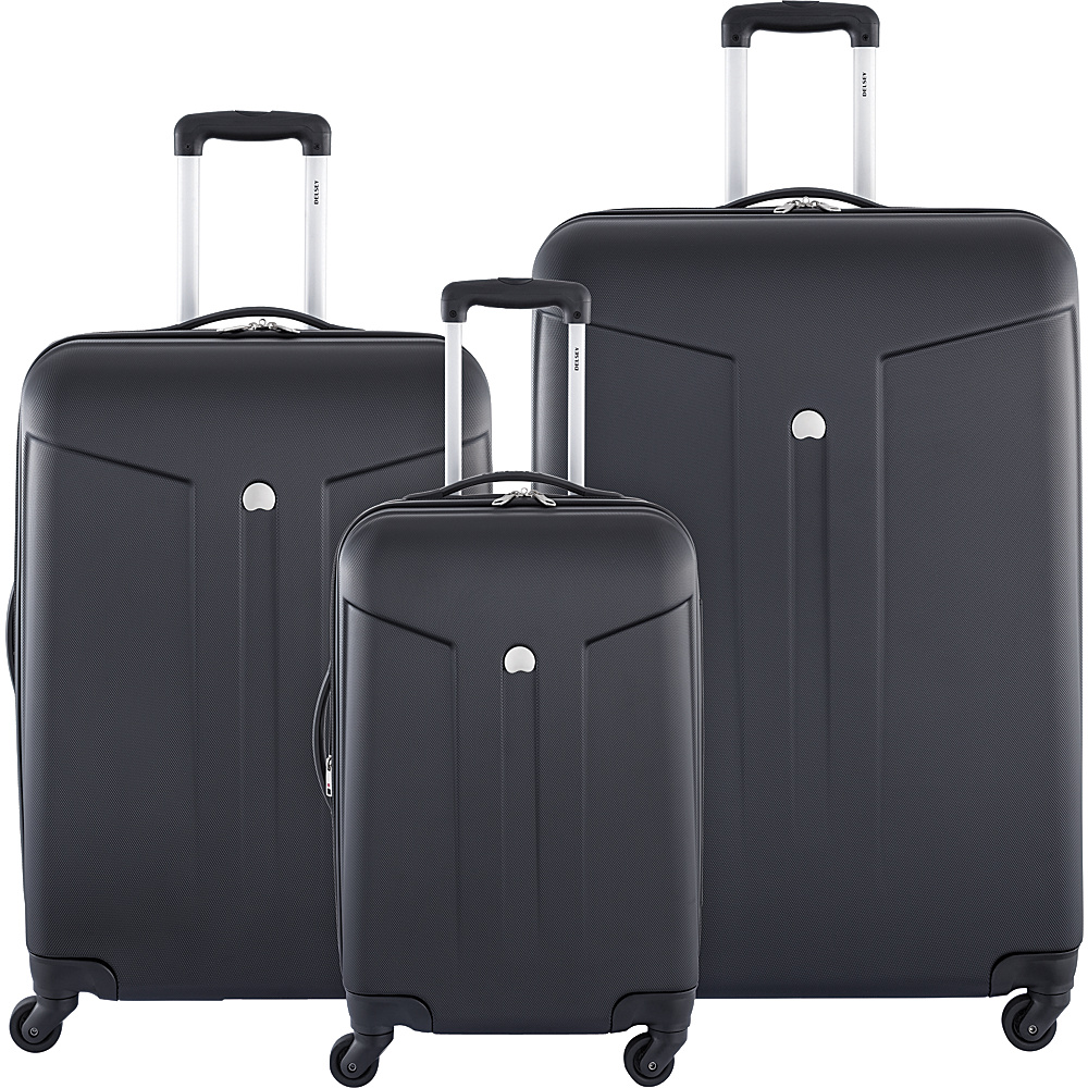 Delsey Comte 3 Piece Expandable Hardside Luggage Set Black Delsey Luggage Sets