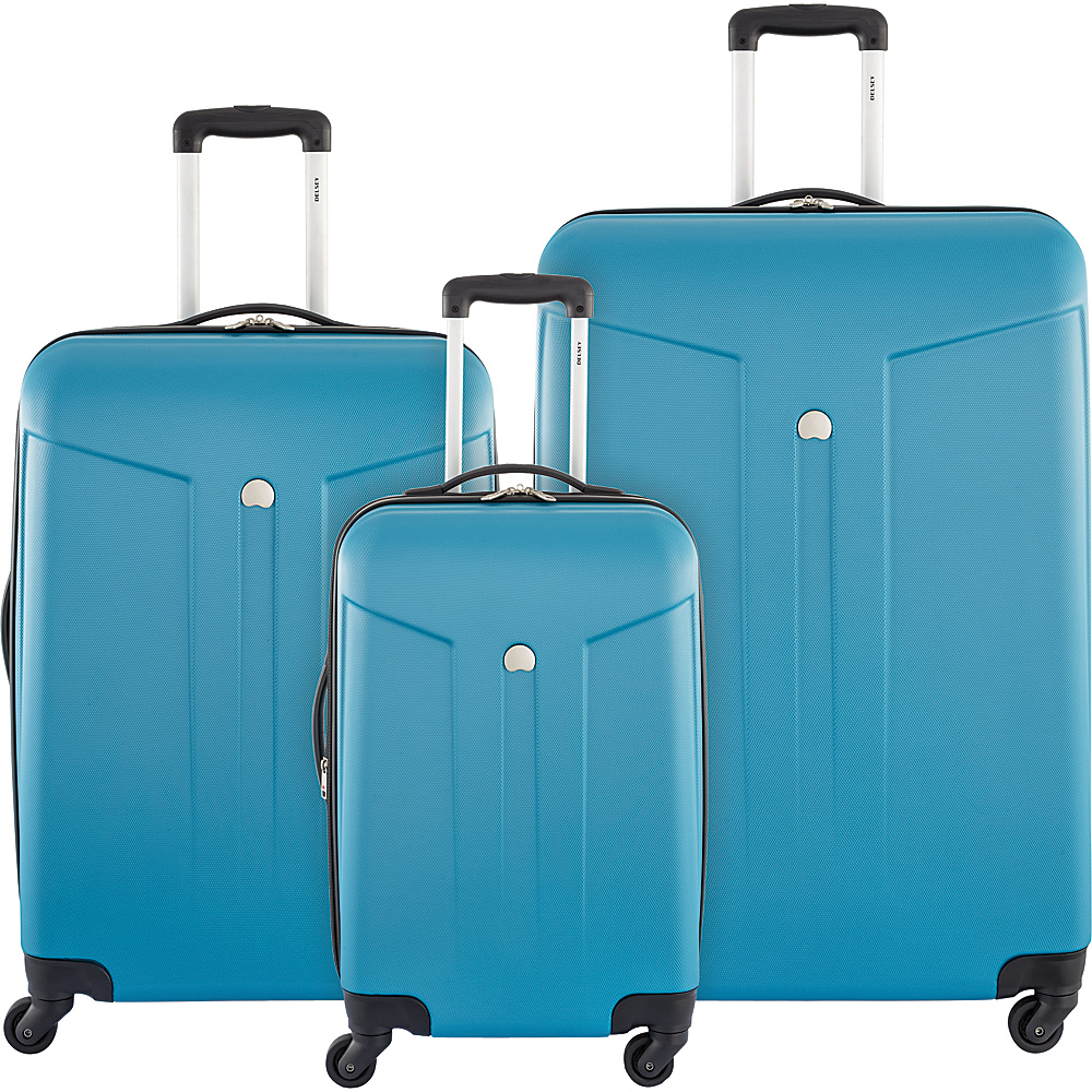 Delsey Comte 3 Piece Expandable Hardside Luggage Set Teal - Delsey Luggage Sets