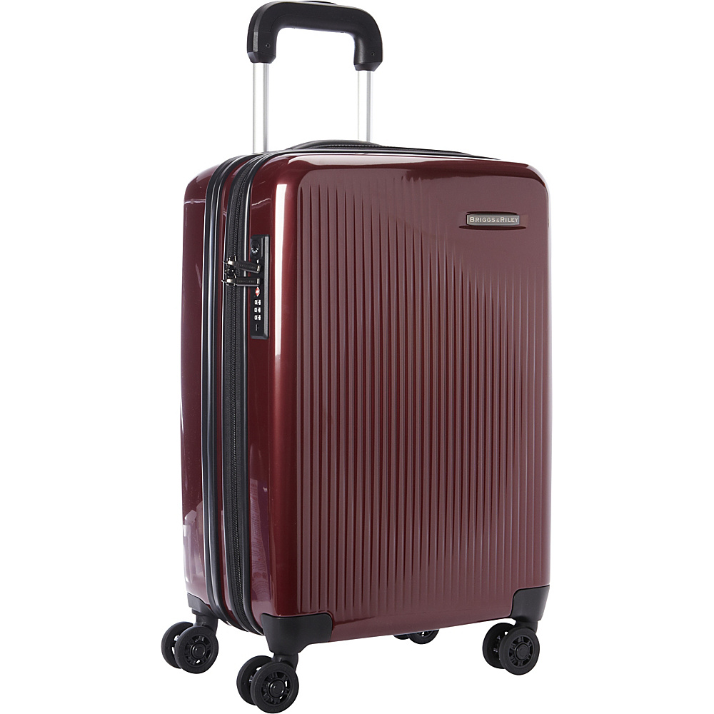 Briggs Riley Sympatico CX Int l Carry On Expandable Spinner Burgundy Briggs Riley Softside Carry On