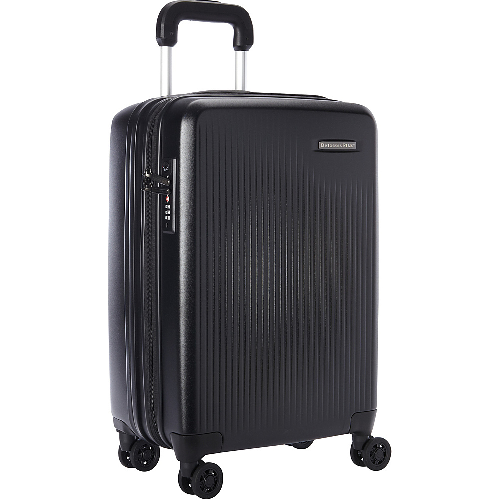 Briggs & Riley Sympatico CX Int'l Carry-On Expandable Spinner Black - Briggs & Riley Softside Carry-On