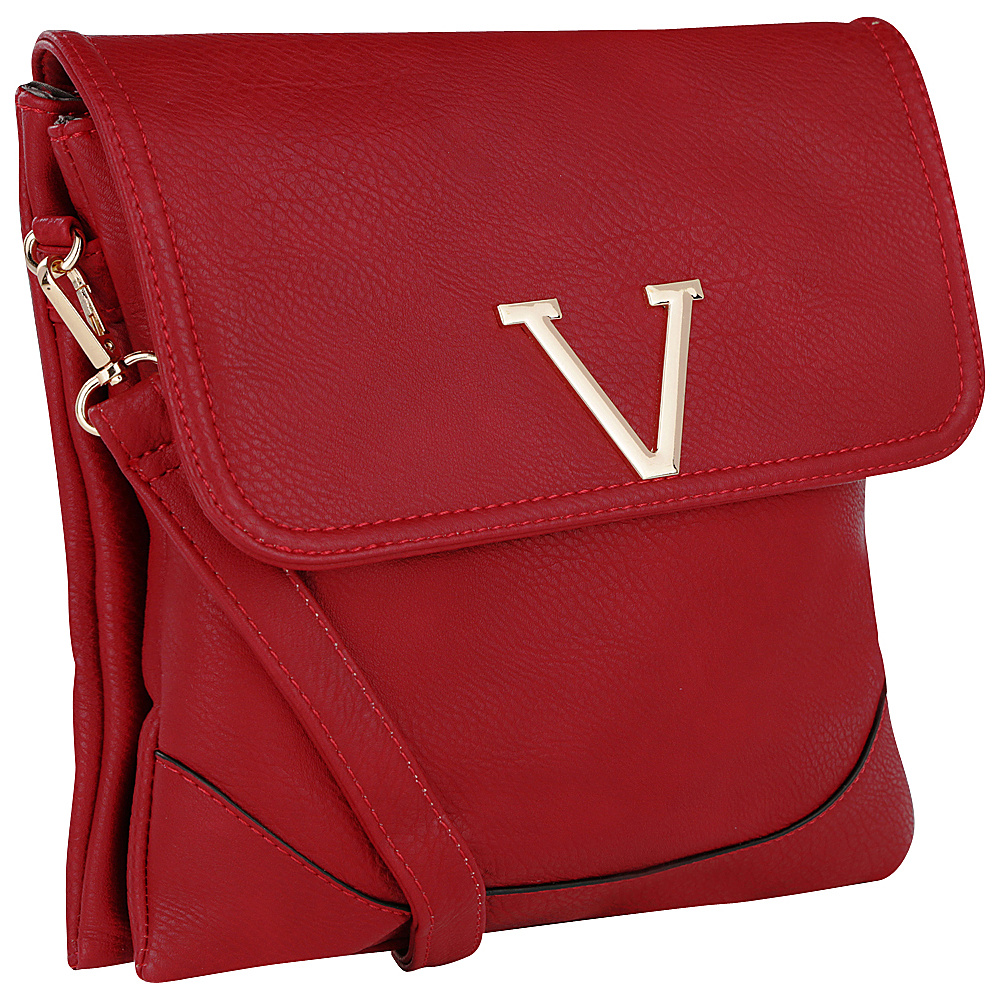 MKF Collection Morgan Crossbody Bag Red - MKF Collection Fabric Handbags - Handbags, Fabric Handbags