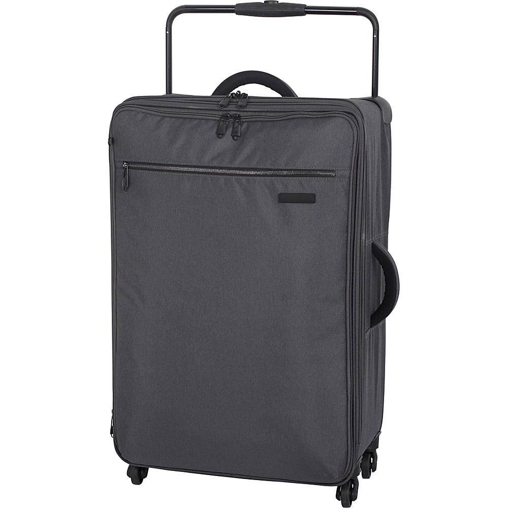 IT Luggage World's Lightest Tritex 4 Wheel Spinner Medium Checked Bag Magnet - IT Luggage Large Rolling Luggage