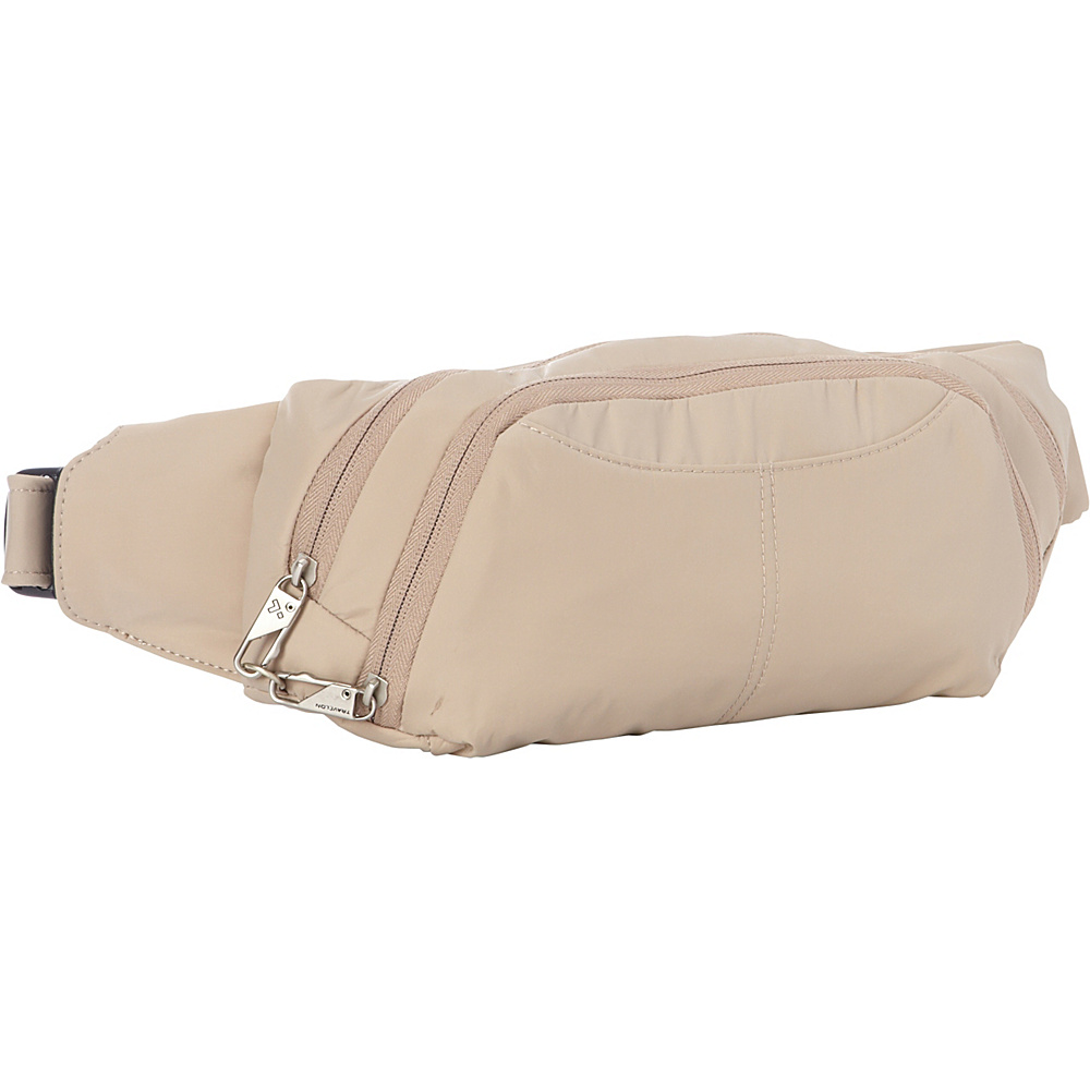 Travelon Anti-Theft Waist Pack Khaki/Purple - Travelon Waist Packs - Backpacks, Waist Packs