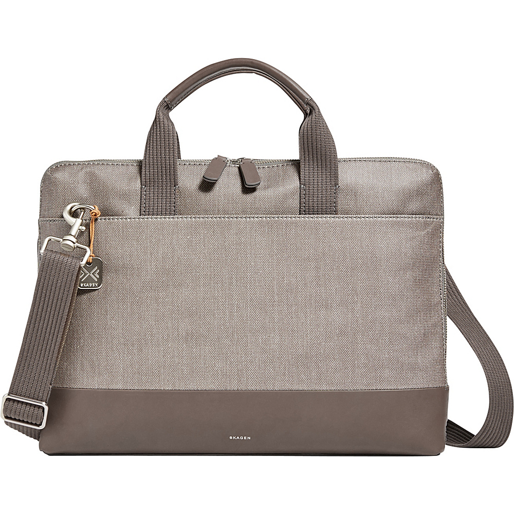 Skagen Peder Slim Twill Briefcase Dark Heather Grey - Skagen Messenger Bags