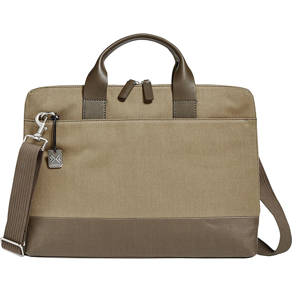 Skagen Peder Slim Twill Briefcase Olive - Skagen Men's Bags