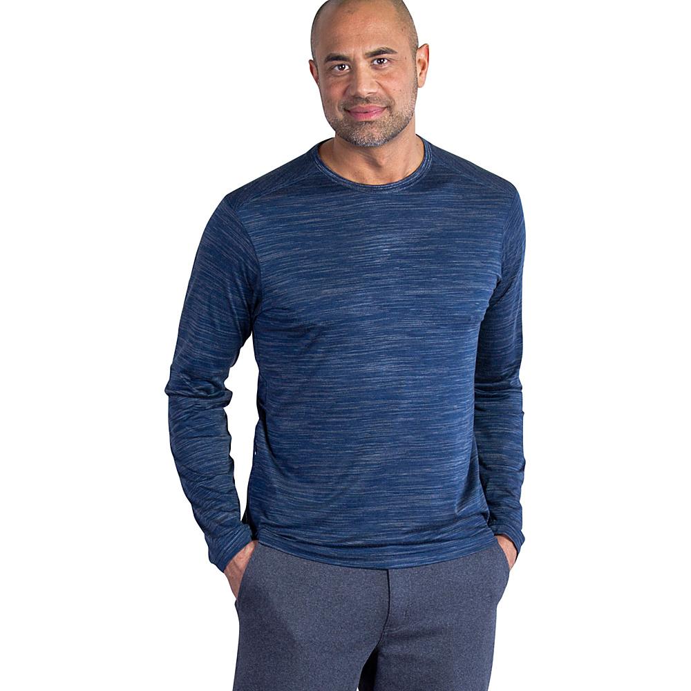 ExOfficio Mens Termo Crew Long Sleeve XL - Navy Heather - ExOfficio Mens Apparel - Apparel & Footwear, Men's Apparel