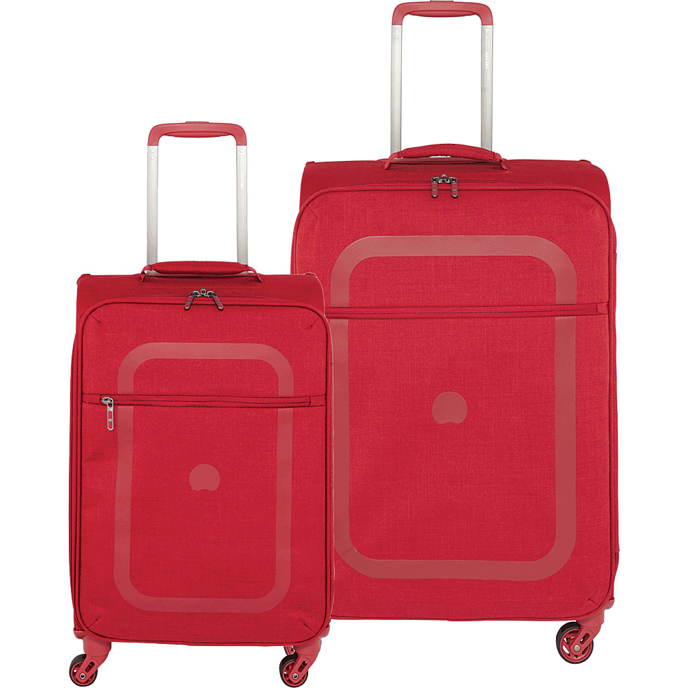 "Delsey Dauphine Carry On and 23"" Spinner Luggage Set Red - Delsey Luggage Sets"
