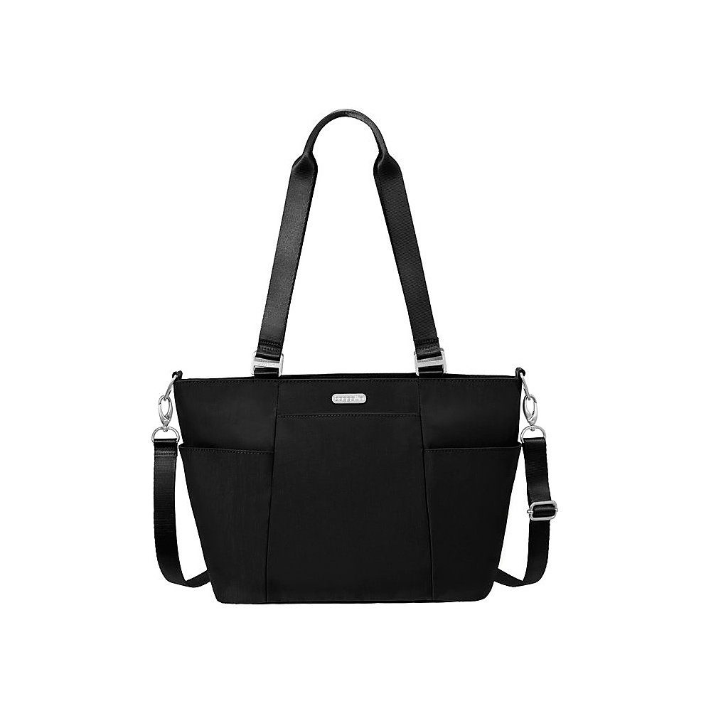 baggallini Medium Avenue Tote Black/Sand - baggallini Fabric Handbags