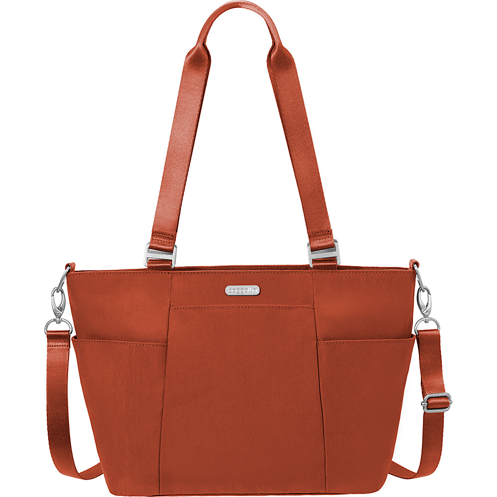 baggallini Medium Avenue Tote Scarlet - baggallini Fabric Handbags