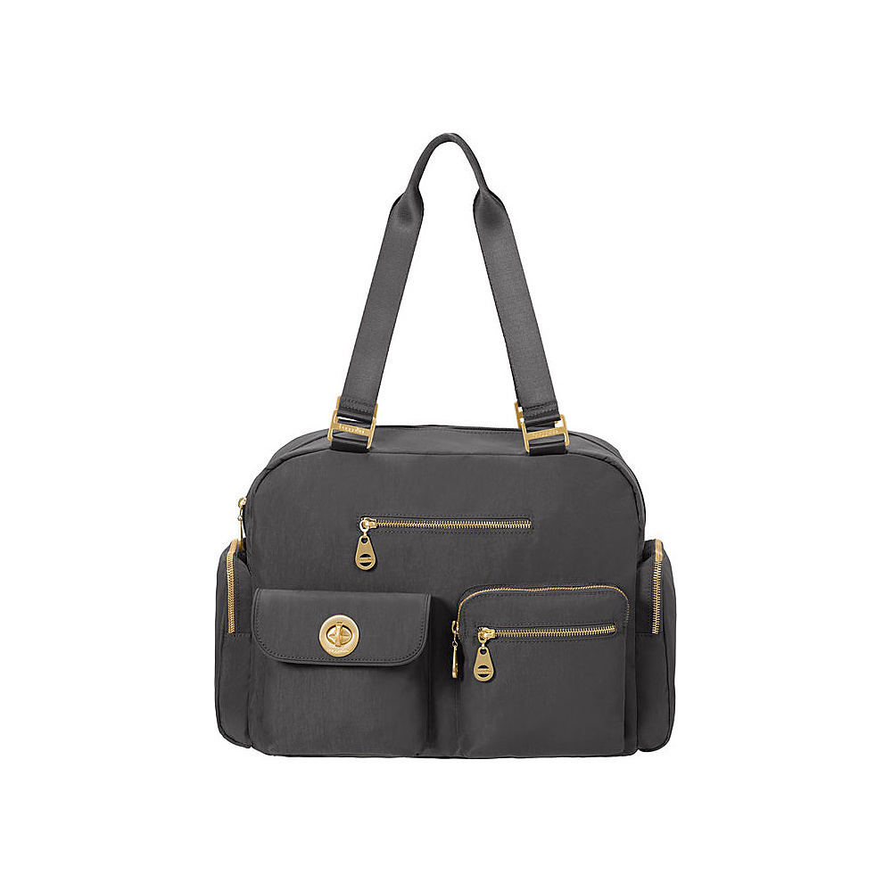 baggallini Venice Laptop Tote Charcoal - baggallini Fabric Handbags - Handbags, Fabric Handbags