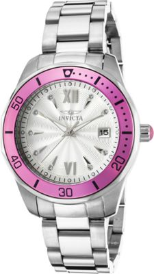 invicta watches womens pro diver stainless steel