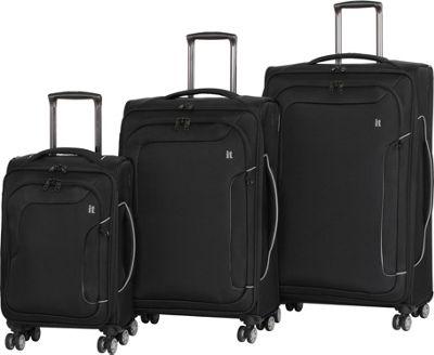 it luggage Amsterdam III 8 Wheel 3 Piece Set Black - it luggage Luggage Sets
