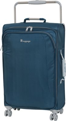 it luggage World's Lightest 8 Wheel Spinner 27.6 Blue Ashes - it luggage Softside Checked