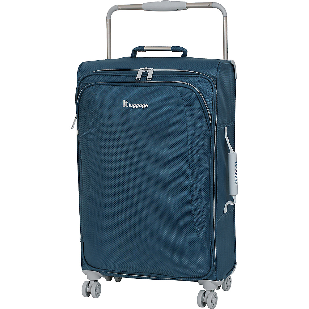 it luggage World s Lightest 8 Wheel Spinner 27.6 Blue Ashes it luggage Softside Checked