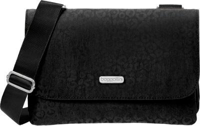 baggallini Venture Crossbody - Retired Colors Black Cheetah Emboss - baggallini Fabric Handbags