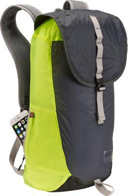 Lewis N. Clark ElectroLight Day Pack Charcoal/Neon Lemon - Lewis N. Clark Day Hiking Backpacks