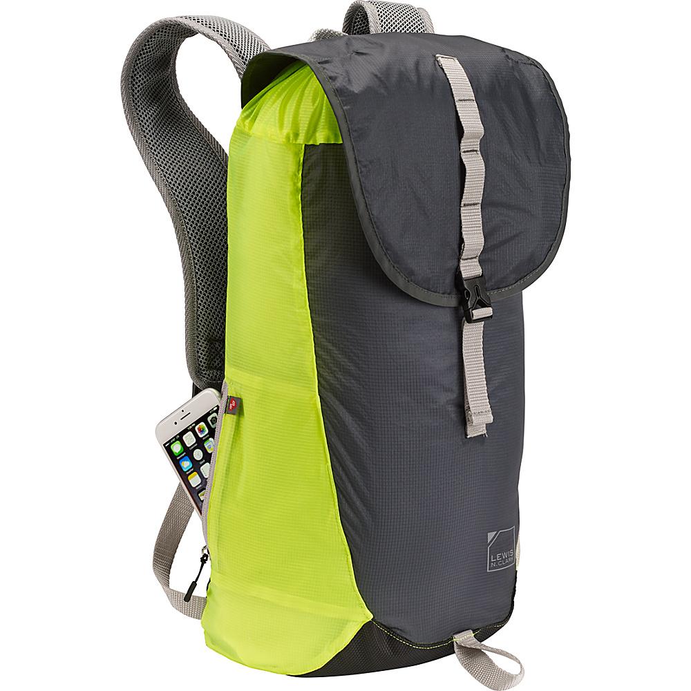 Lewis N. Clark ElectroLight Day Pack Charcoal Neon Lemon Lewis N. Clark Day Hiking Backpacks