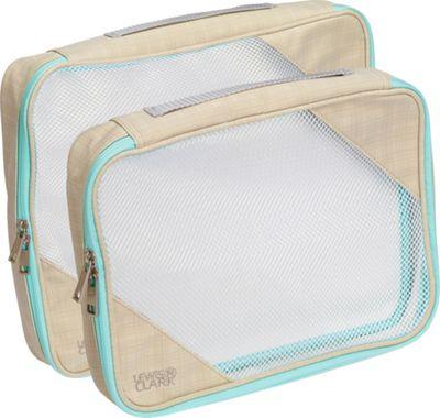 Lewis N. Clark 2-Pack Packing Cube Set Beige/Mint - Lewis N. Clark Travel Organizers
