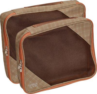 Lewis N. Clark 2-Pack Packing Cube Set Taupe/Pumpkin - Lewis N. Clark Travel Organizers