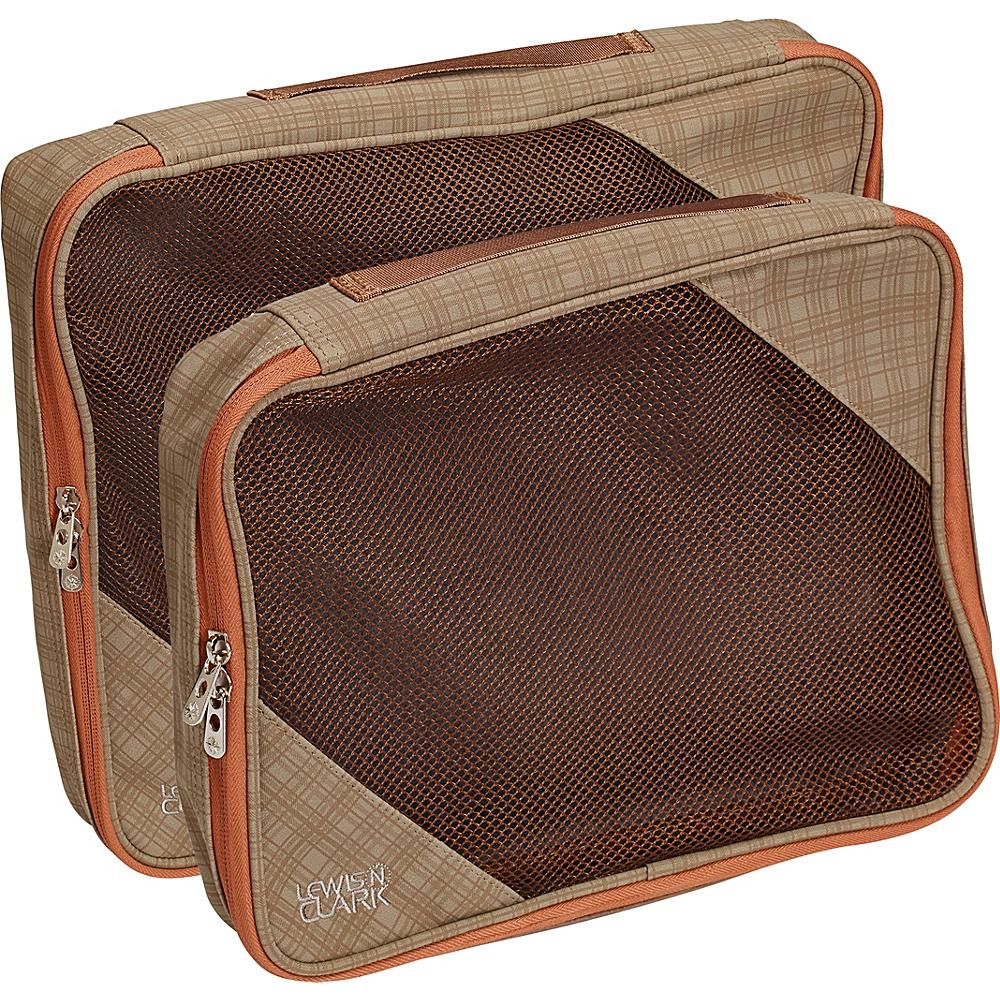 Lewis N. Clark 2 Pack Packing Cube Set Taupe Pumpkin Lewis N. Clark Travel Organizers