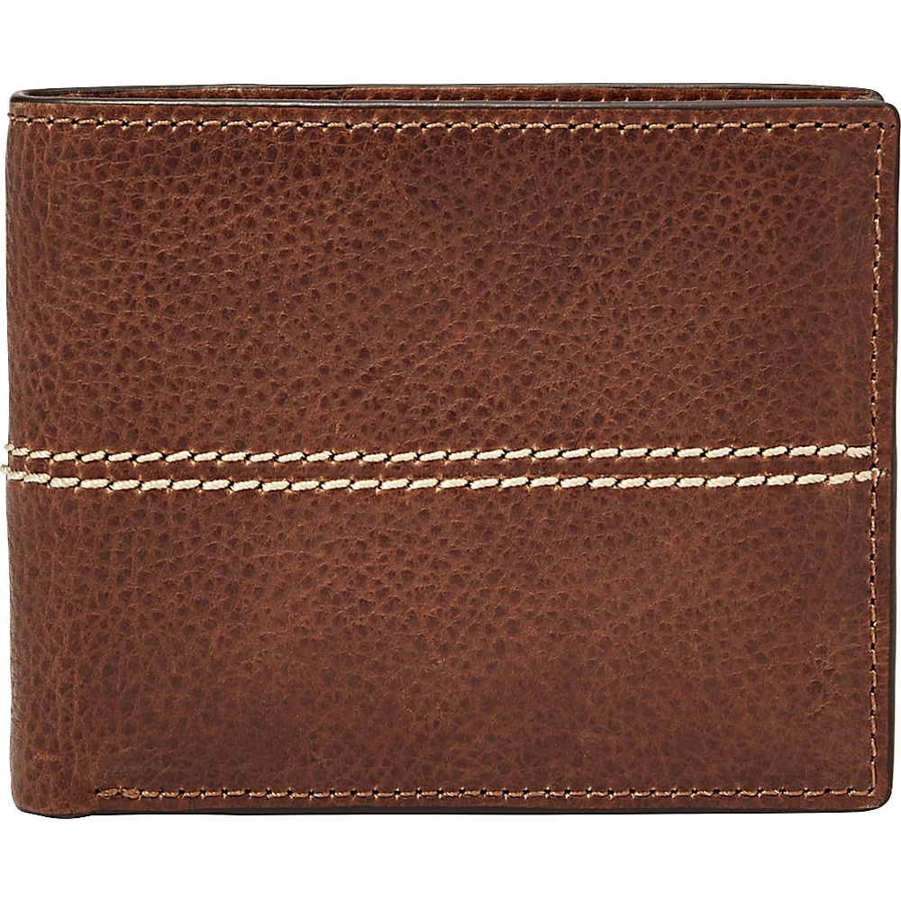 Fossil Turk RFID Passcase Brown - Fossil Mens Wallets - Work Bags & Briefcases, Men's Wallets