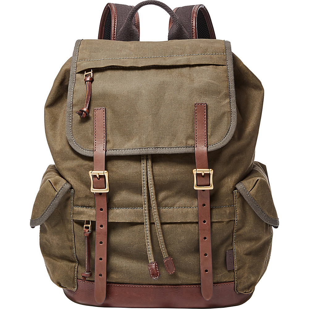 Fossil Defender Rucksack Green - Fossil Leather Handbags - Handbags, Leather Handbags