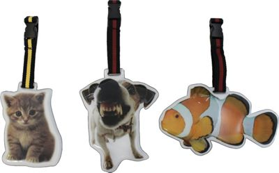 MyTagAlongs Pet Pals Luggage Tags-Set of 3 Assorted Pets - MyTagAlongs Luggage Accessories