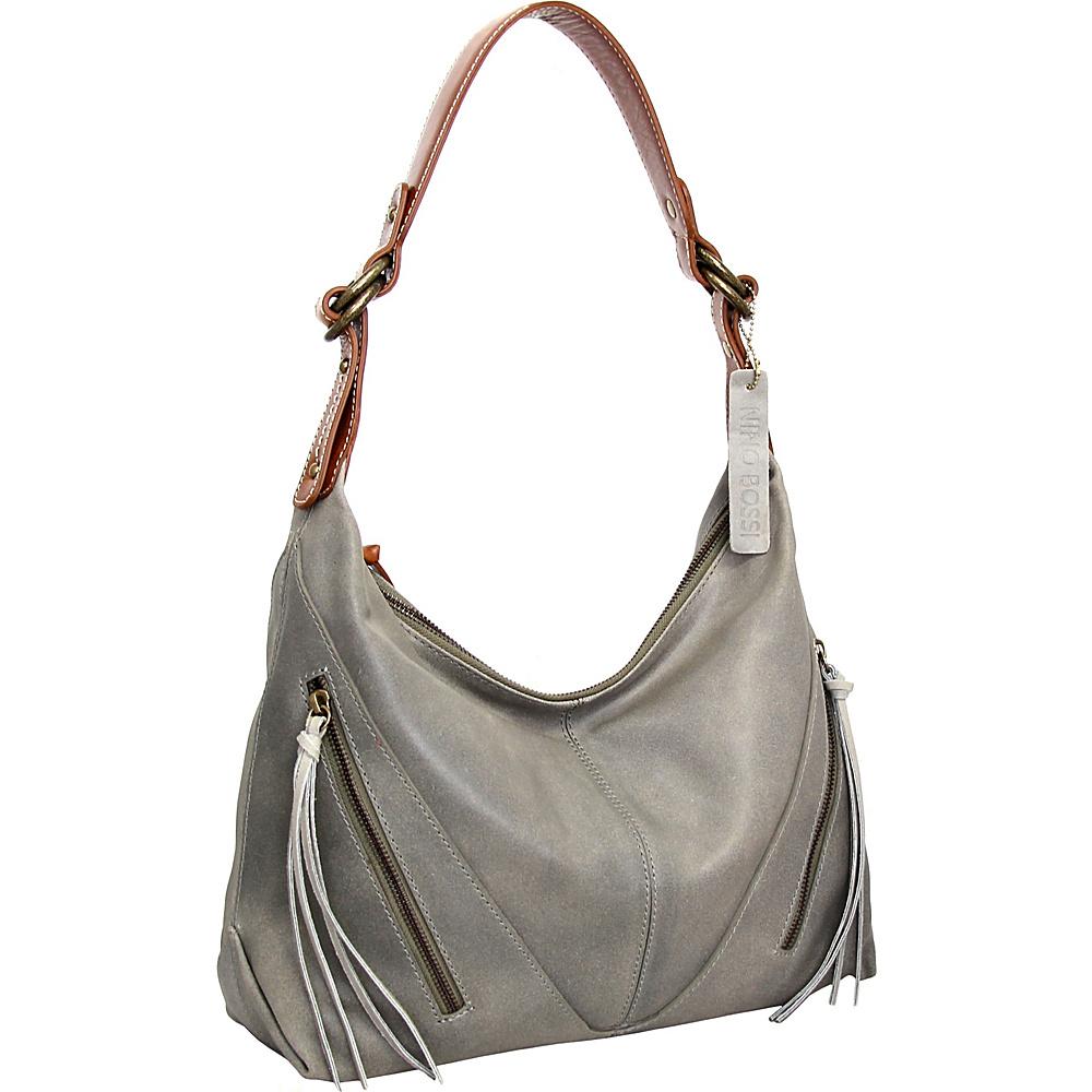 Nino Bossi Daisy Paradise Shoulder Bag Stone - Nino Bossi Leather Handbags - Handbags, Leather Handbags