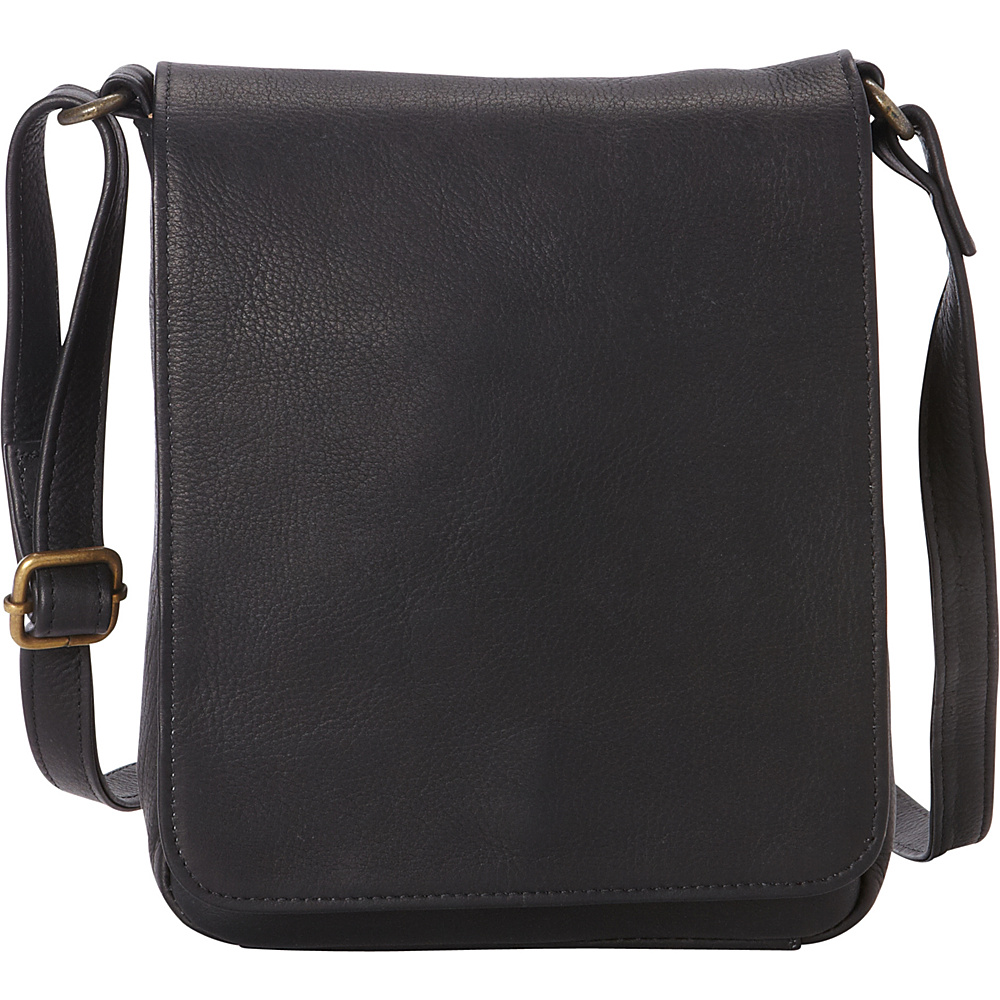 Le Donne Leather Capella Flapover Crossbody Black - Le Donne Leather Leather Handbags - Handbags, Leather Handbags