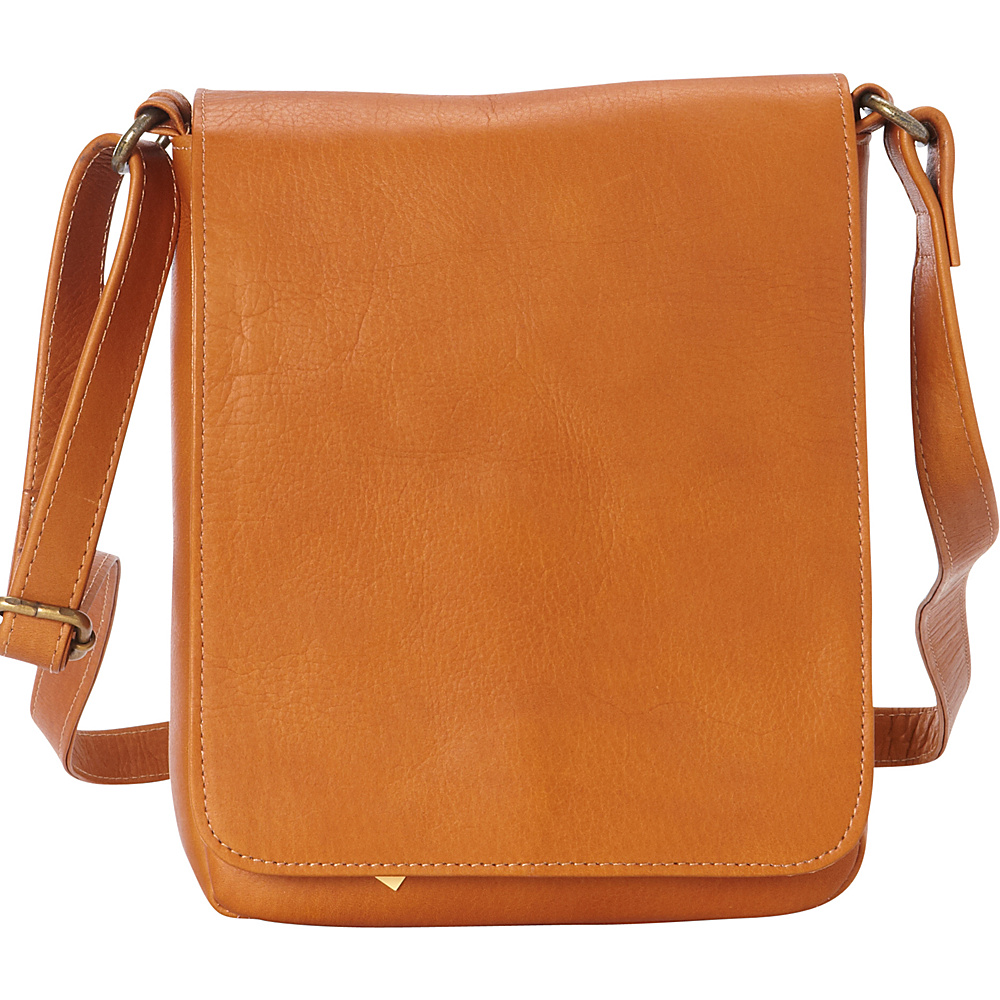 Le Donne Leather Capella Flapover Crossbody Tan - Le Donne Leather Leather Handbags - Handbags, Leather Handbags