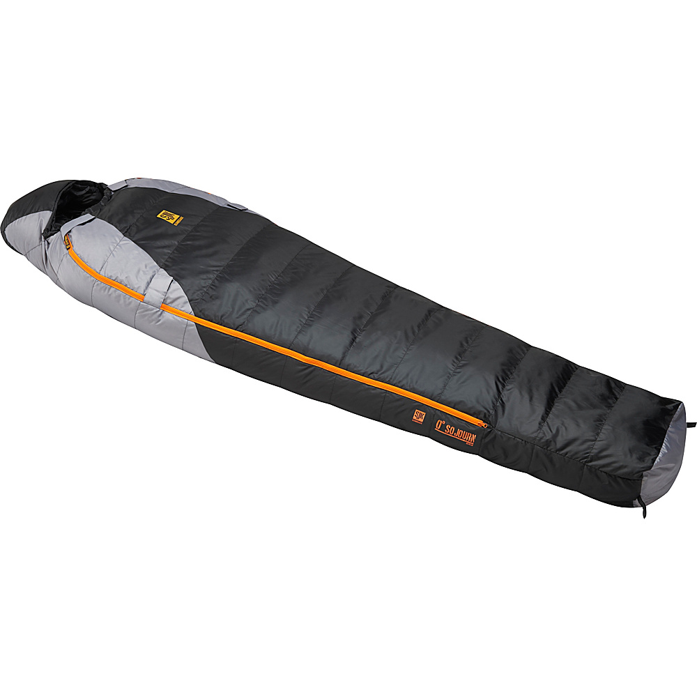 Slumberjack Sojourn 0 Degree 550f Reg Dual Zipper Black Gray Slumberjack Outdoor Accessories
