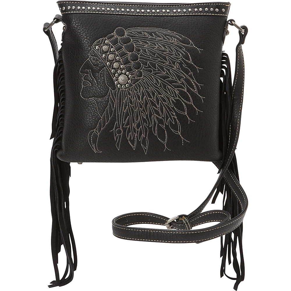 Montana West Fringe Crossbody Bag Black Montana West Manmade Handbags
