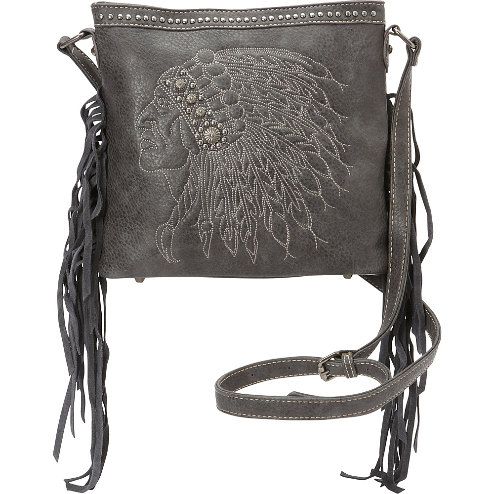 Montana West Fringe Crossbody Bag Grey Montana West Manmade Handbags