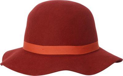 Adora Hats Wool Felt Short Floppy Hat One Size - Burgundy - Adora Hats Hats/Gloves/Scarves