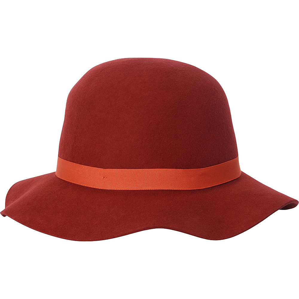 Adora Hats Wool Felt Short Floppy Hat Burgundy Adora Hats Hats Gloves Scarves