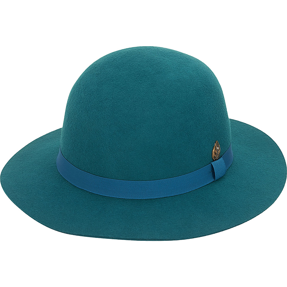 Adora Hats Wool Felt Short Floppy Hat Teal Adora Hats Hats Gloves Scarves