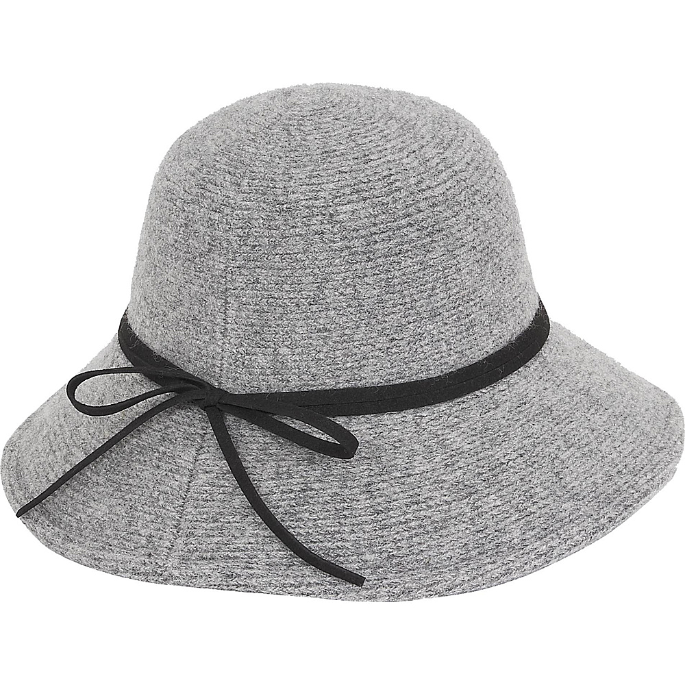 Adora Hats Wool Floppy Hat Grey Adora Hats Hats Gloves Scarves