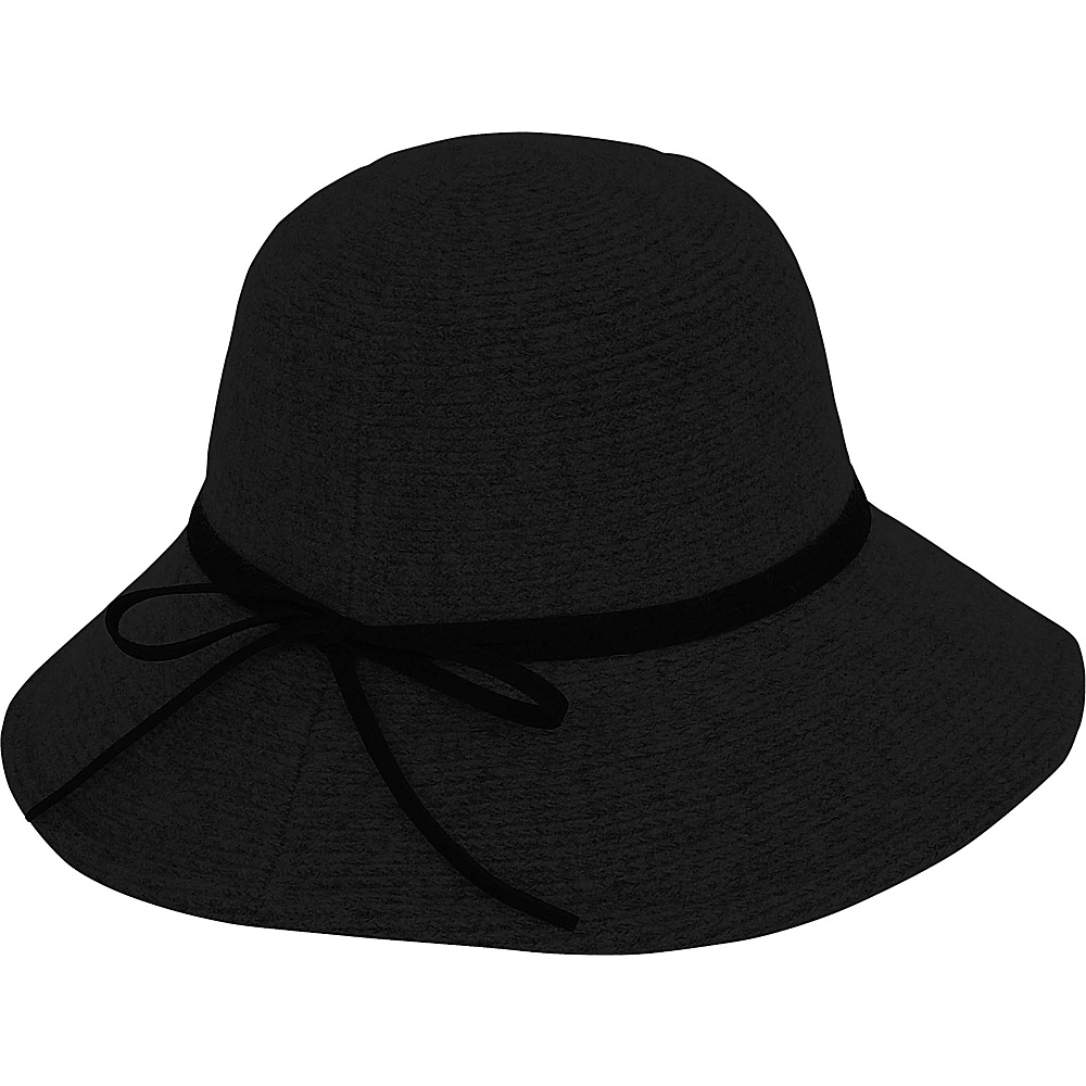 Adora Hats Wool Floppy Hat Black Adora Hats Hats Gloves Scarves